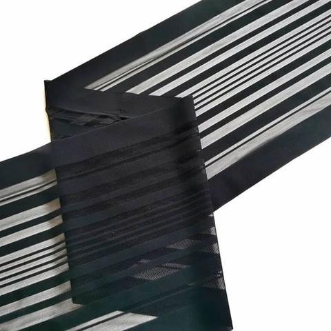 Эластичная сеточка, с окантовкой, черная