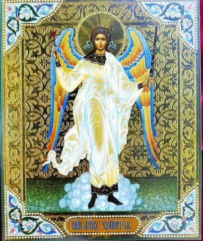 Икона Ангел Хранитель на дереве на левкасе мастерская Иконный Дом