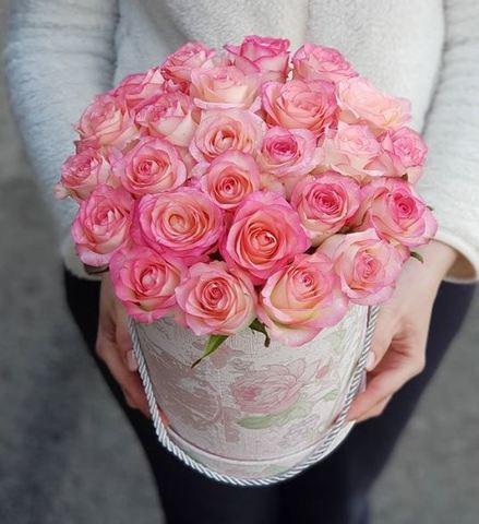 Коробка розовые