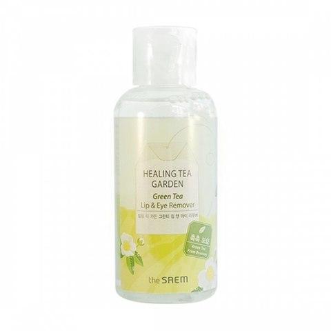 The Saem Healing Tea Garden Green Tea Lip and Eye Remover средство для снятия макияжа глаз и губ