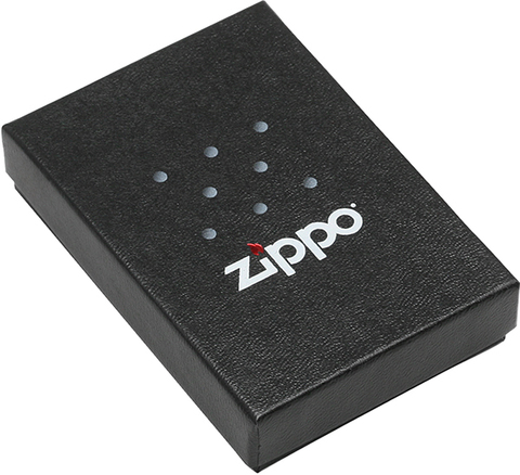 Зажигалка Zippo Wolf Design с покрытием Black Ice, латунь/сталь, чёрная, глянцевая123