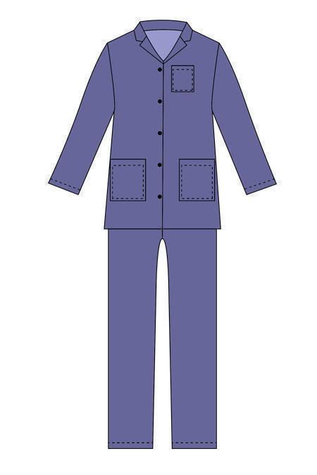 Выкройка классической мужской пижамы тех рисунок