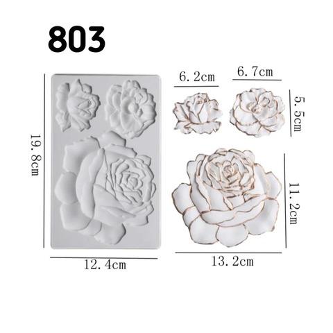 0803 Молд силиконовый. Розы большие.