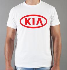Футболка с принтом KIA (КИА) белая 001