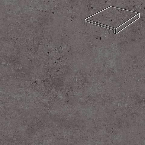 Stroeher - Gravel Blend 963 black 294x175x52x10 артикул 4817 - Клинкерная ступень, прямой угол