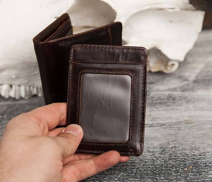 WL297-2 Классическое мужское портмоне со съемным кардхолдером фото 05