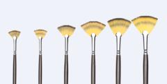 Кисть синтетика веерная Transon, длинная ручка