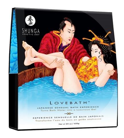 Соль для ванны Lovebath Ocean temptation - превращает воду в гель!