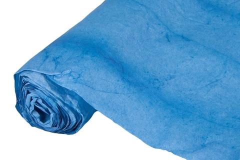 Бумага жатая эколюкс 70см х 5м синяя 06