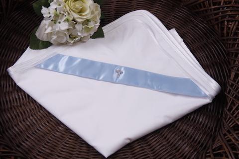 Пеленка крыжма для Крещения Ангел (голубая)