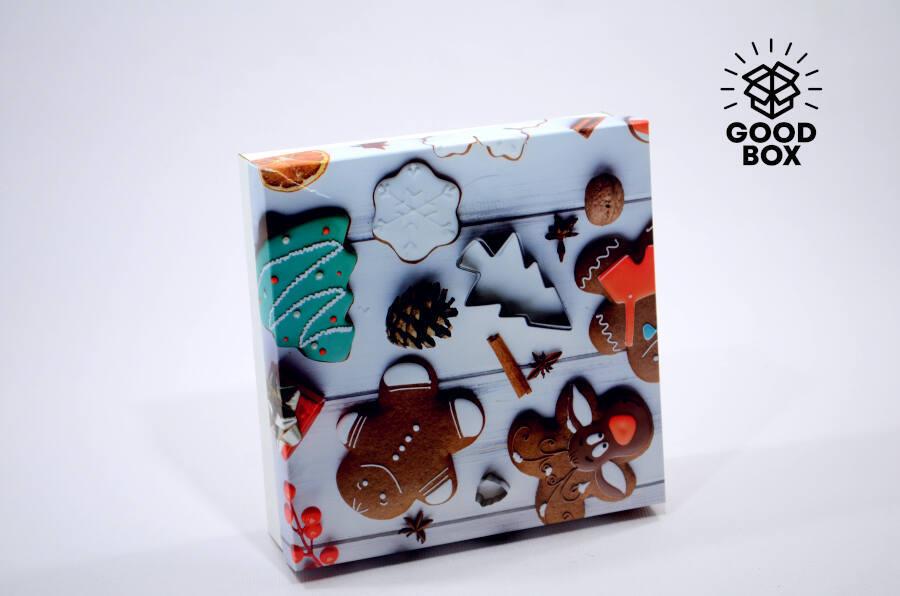 Новогодняя подарочная коробка купить в Казахстане