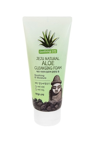 Пенка для умывания Jeju Natural Aloe Cleansing Foam