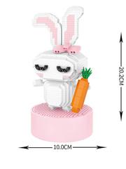 Конструктор LOZ Музыкальная шкатулка Кролик 770 деталей NO. 9852 Rabbit MusicBox Series