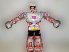 Мягкий игровой костюм робот-трансформер