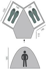 Палатка Btrace Double 4 - 2