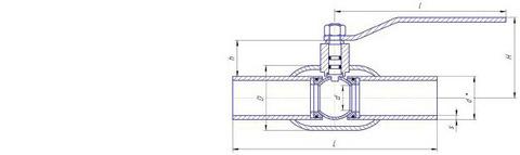 Конструкция LD КШ.Ц.П.300/250.025.Н/П.02 Ду300 стандартный проход с редуктором