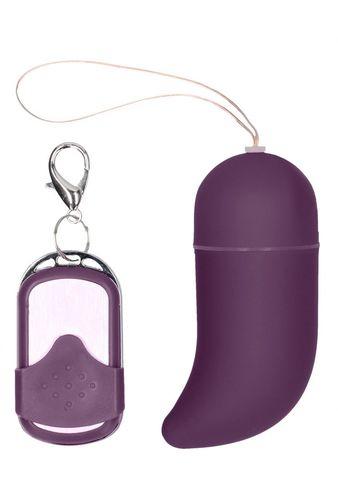 Фиолетовое виброяйцо Medium Wireless Vibrating G-Spot Egg с пультом - 7,5 см.