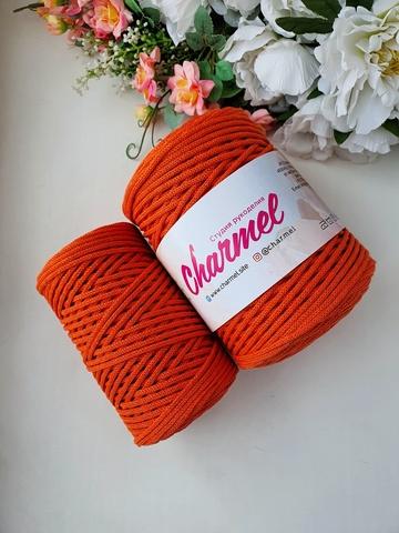 Оранжевое настроение  Хлопковый шнур 3 мм