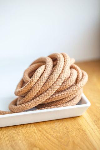 Хлопковый шнур с наполнителем 9 мм, песочный