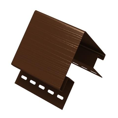 Ю пласт угол наружный коричневый 3 м