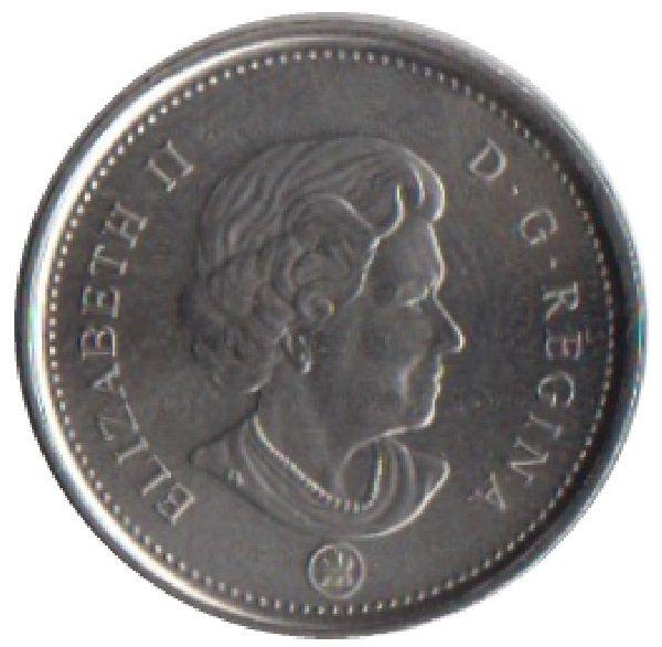 10 центов 2014 год. Парусник. UNC