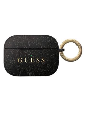 Guess / Чехол для Airpods Pro Silicone case с кольцом | черный