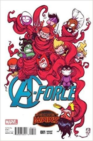 A-Force #1 (Variant Cover art by Skottie Young)