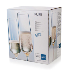 Набор фужеров для шампанского 209 мл, 6 шт, Pure, фото 5