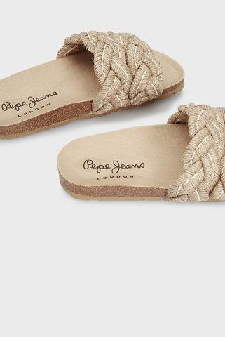 Женские бежевые слайдеры OBAN BRAID Pepe Jeans