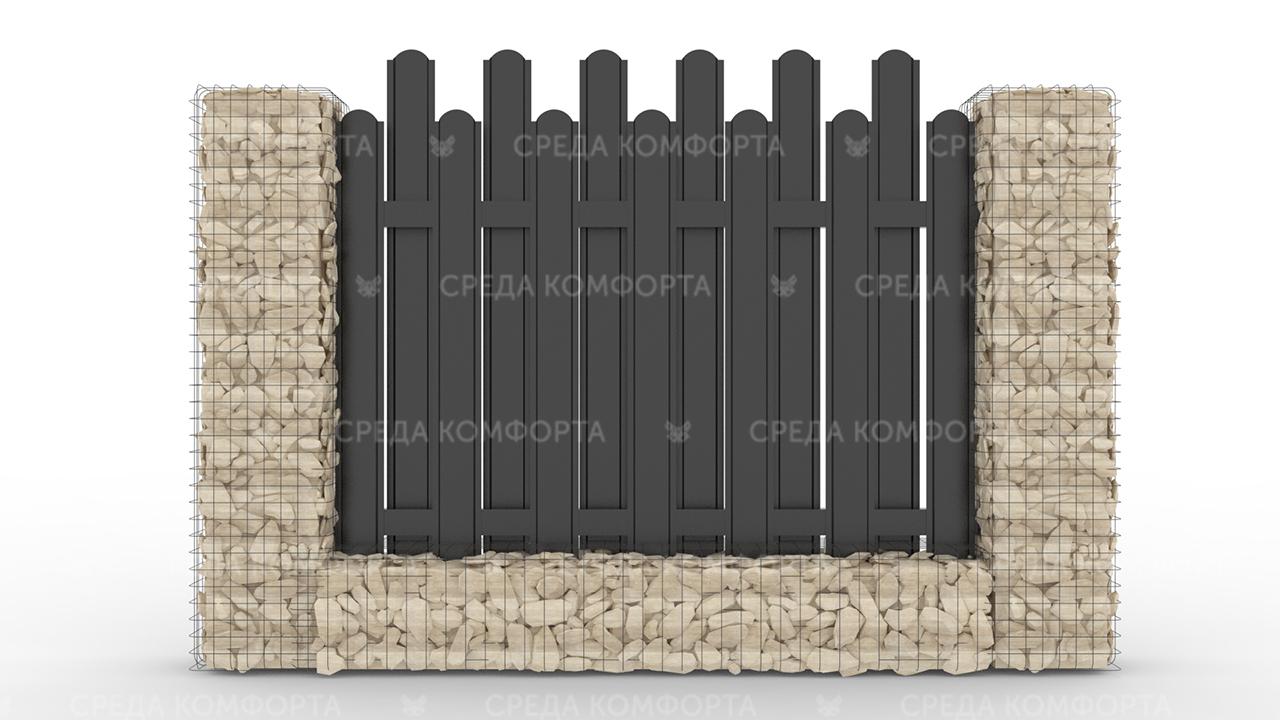 Забор из евроштакетника ZBR0059