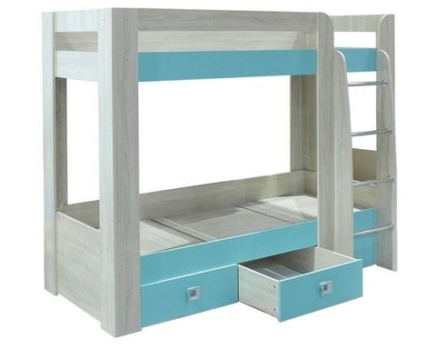 Кровать СИТИ двухъярусная дуб сонома / аква