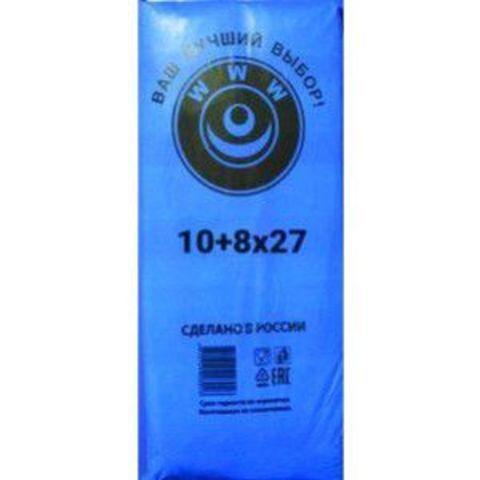 Пакет фасовочный, ПНД 10+8х27 (8) В пластах WWW синяя (арт 80060)