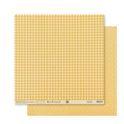 Бумага для скрапбукинга «Жёлтая базовая», 30.5 × 32 см, 180 гм