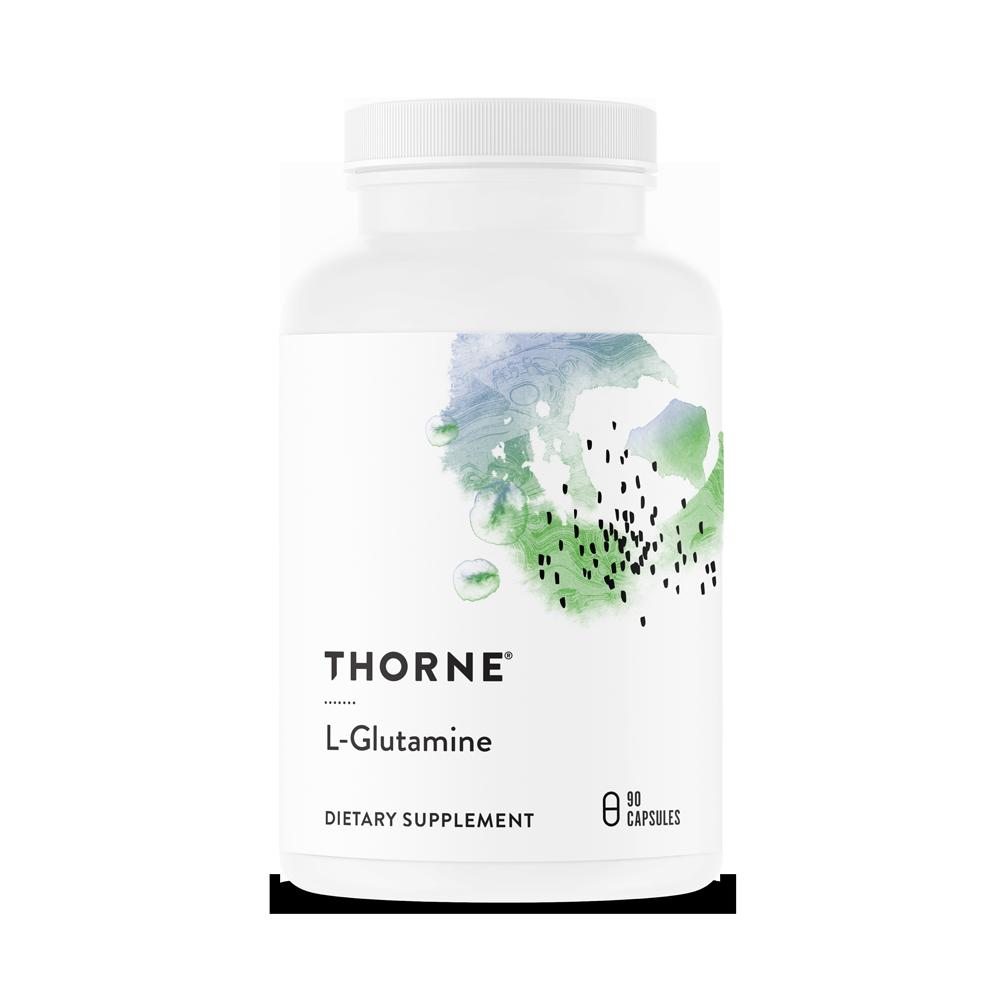 Аминокислота L-глутамин, L-Glutamine, Thorne Research, (90 капсул)