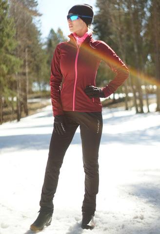 Женский утеплённый лыжный костюм Nordski Elite Pro Wine/Black