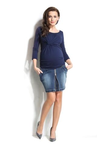 Юбка для беременных джинсовая 10099 синий