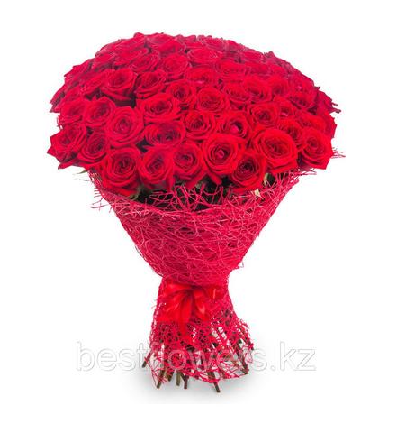 Букет из 51 красной розы (местные)