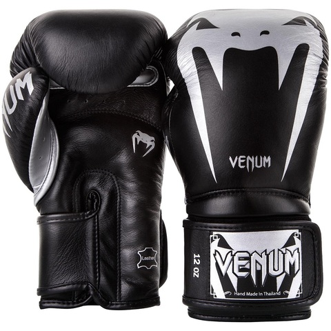 Перчатки для бокса Venum Giant 3.0 Boxing Gloves Black/Silver