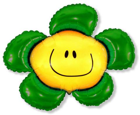 Фольгированный шар Цветочек зеленый