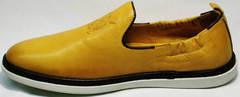 Удобные мужские туфли на лето King West 053-1022 Yellow-White.
