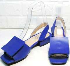 Изящные босоножки сандали с открытым носом женские Amy Michelle 2634 Ultra Blue.
