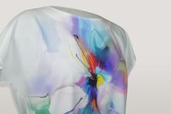 Блузка Marguerite цветок акварель к/р