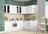 Шкаф кухонный  угловой РИВЬЕРА со стеклом 600