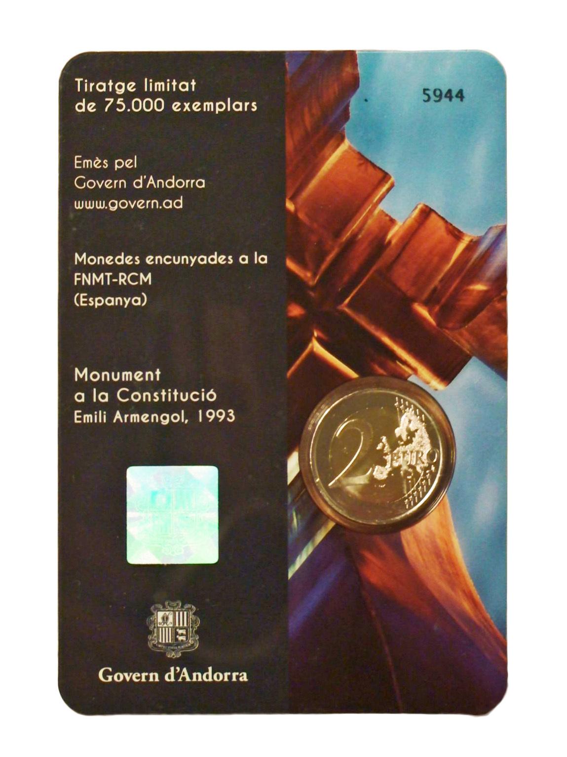 2 евро Андорра