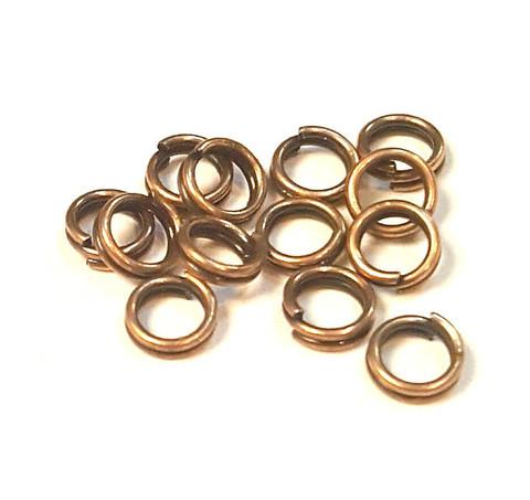 Кольцо двойное 5 мм цвет медь цена за 25 шт