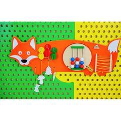 Набор стеновых панелей Русские животные ( Мишка, Зайка, Лисичка, Волк)