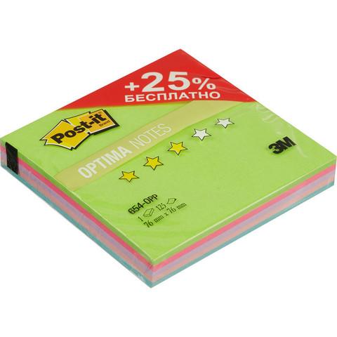 Стикеры Post-it Original Лето 76x76 мм неоновые 5 цветов (1 блок, 125 листов)