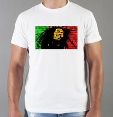 Футболка с принтом Боб Марли (Bob Marley) белая 0013