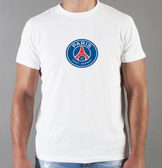 Футболка с принтом FC Paris Saint-Germain (ФК Пари Сен-Жермен) белая 003