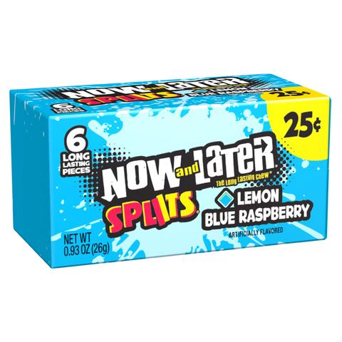 Жевательные конфеты Now and Later Splits Lemon and Blue Raspberry со вкусом лимона и голубой малины, 26 г